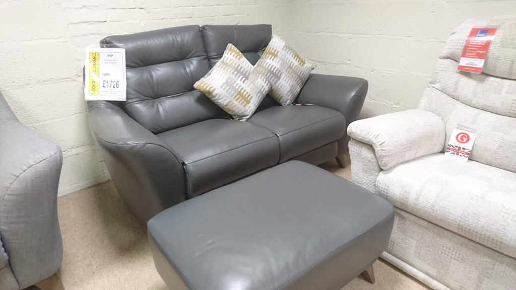G Plan Upholstery Pip 2 Seater Sofa and Footstool
