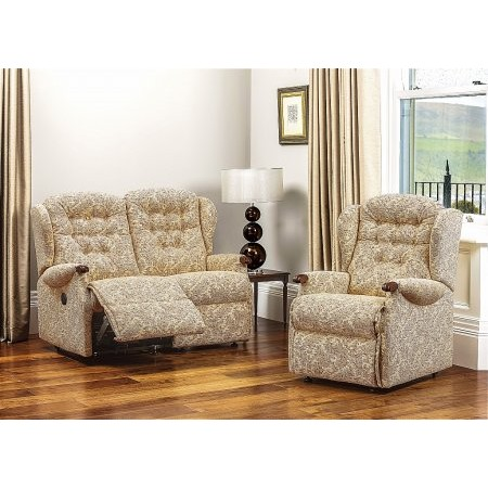 Sherborne - Lynton Knuckle 2 Seater Reclining Settee and Chair