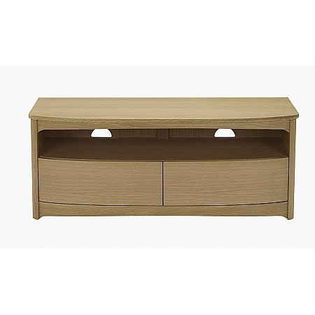 Nathan - Shades Oak Shaped TV Unit with Drawers