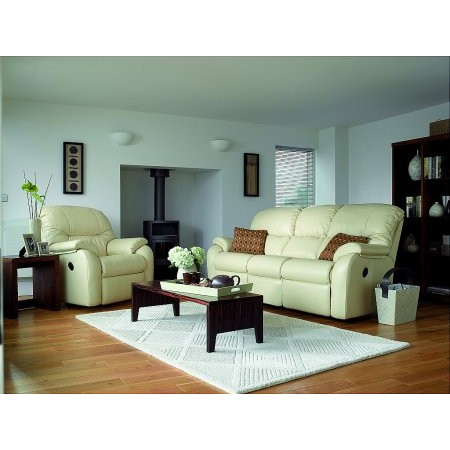 G Plan Upholstery - Mistral Recliner Leather Suite