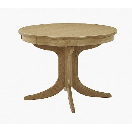 Nathan - Shades Oak Circular Dining Table on Pedestal