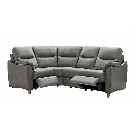 G Plan Upholstery - Spencer Leather Recliner Corner Sofa