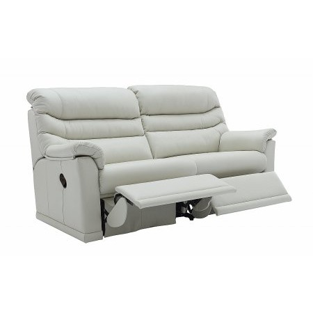 G Plan Upholstery - Malvern 3 Seater 2 Cushion Leather Recliner Sofa