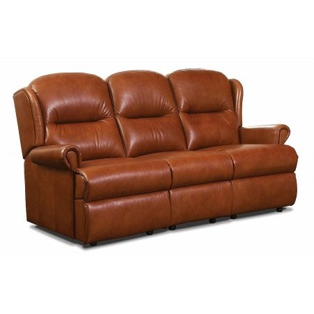 Sherborne - Malvern 3 Seater Leather Settee