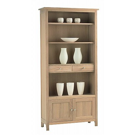 Corndell - Nimbus Large Bookcase with Cupboard