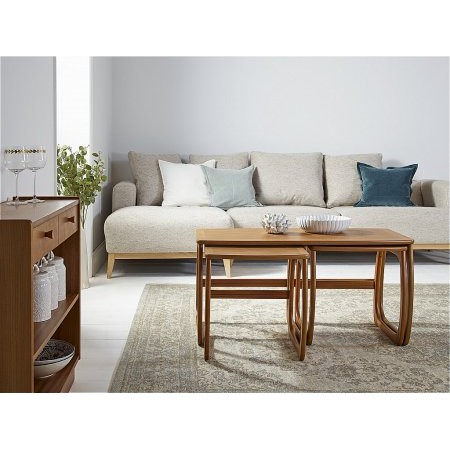 Nathan - Classic Teak Burlington Coffee Table Nest