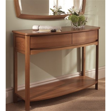 Nathan - Shades Teak Curved Console Table