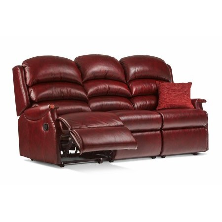 Sherborne - Malham Standard Leather Reclining 3 Seater Settee
