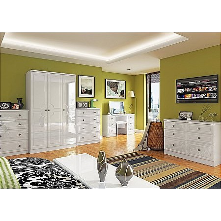Sturtons - Solent Bedroom White Gloss